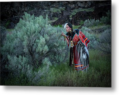 Sage Woman Metal Print by Christian Heeb