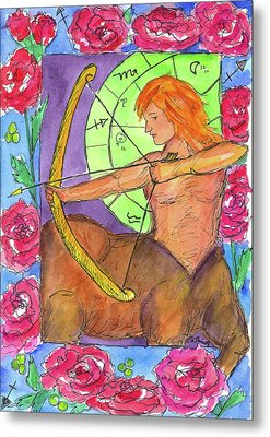 Metal Print featuring the painting Sagittarius by Cathie Richardson