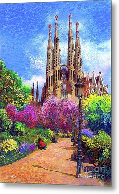 Sagrada Familia And Park,barcelona Metal Print