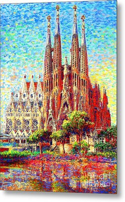 Sagrada Familia Metal Print by Jane Small