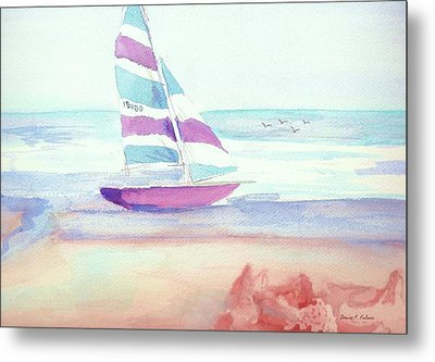 Metal Print featuring the painting Sail Away by Denise Fulmer