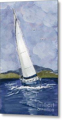 Sail Away Metal Print by Eva Ason