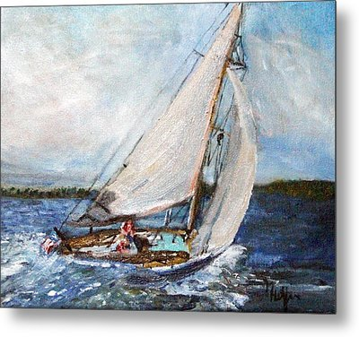 Sail Away Metal Print by Michael Helfen