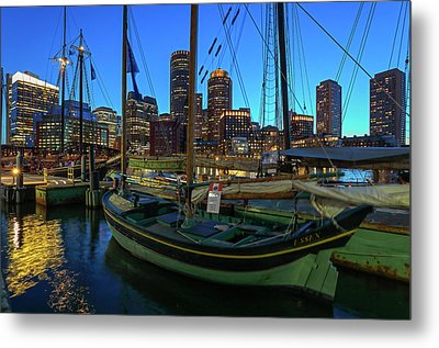 Sail Boston Tall Ship Essex Metal Print