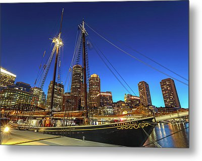 Sail Boston Tall Ships Metal Print