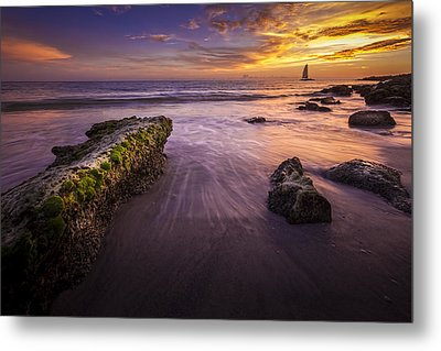 Sail Into The Sunset Metal Print by Marvin Spates