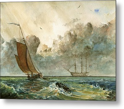 Sail Ships Metal Print