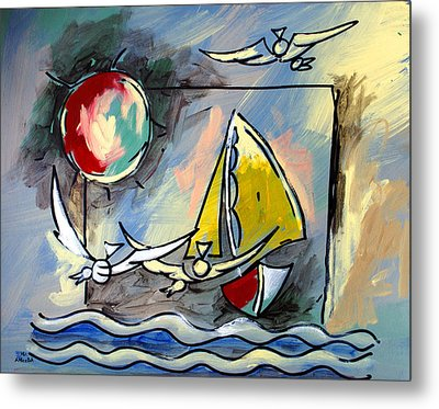 Sailboat 2 Metal Print