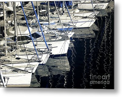 Sailboat Bow Metal Print by John Rizzuto