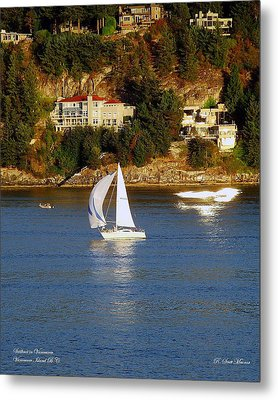 Sailboat In Vancouver Metal Print