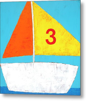 Sailboat Metal Print by Laurie Breen