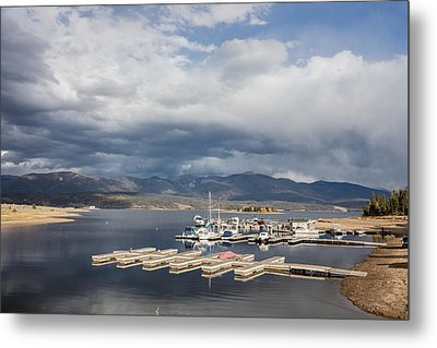Sailboat Slips On Lake Granby In Grand County Metal Print by Carol M Highsmith