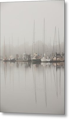 Sailboats In Stillness Metal Print