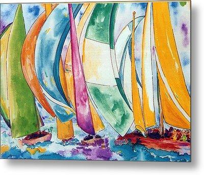 Sailboats Metal Print by Lisa Boyd