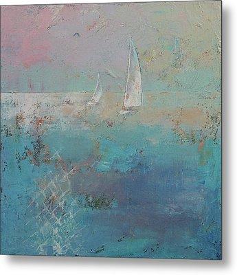 Sailboats Metal Print by Michael Creese