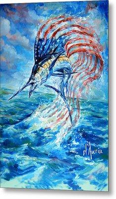 Sailfish Americana Metal Print