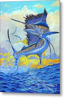 Sailfish Sunset Metal Print by Carey Chen