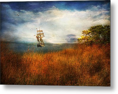 Metal Print featuring the photograph Sailing America by John Rivera