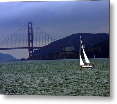 Sailing And The Golden Gate  Metal Print