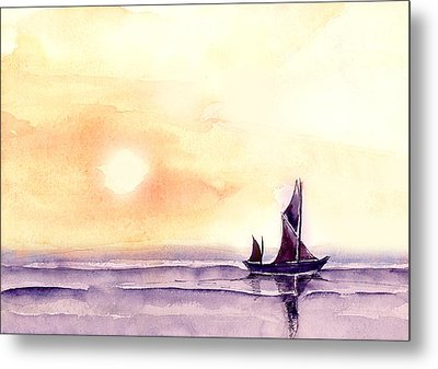 Sailing Metal Print by Anil Nene