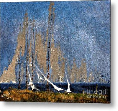 Sailing Metal Print by Arne Hansen