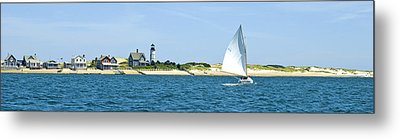 Sailing Around Barnstable Harbor Metal Print