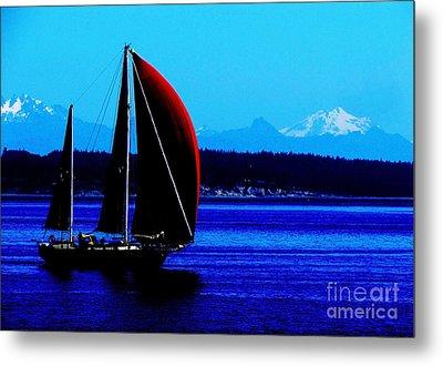 Sailing At Port Townsend Washington State Metal Print