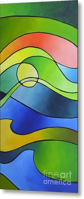 Sailing Away, Canvas Three Metal Print by Sally Trace