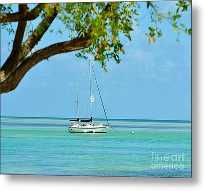 Sailing Away To Key Largo Metal Print