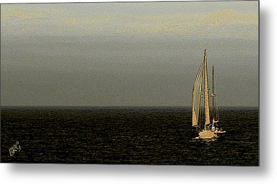Metal Print featuring the photograph Sailing by Ben and Raisa Gertsberg