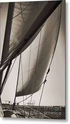 Sailing Beneteau 49 Sloop Metal Print by Dustin K Ryan