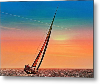 Sailing Boat Nautical 3 Metal Print