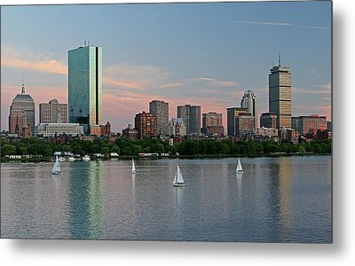 Sailing Boston Metal Print by Juergen Roth