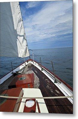 Sailing Bow View Metal Print