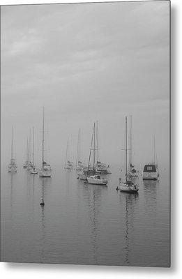Sailing Bw Metal Print