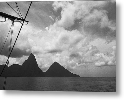 Sailing By The Pitons Metal Print by Terence Davis