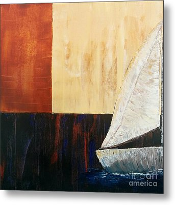 Sailing Decor 4 Metal Print by Shari Monner