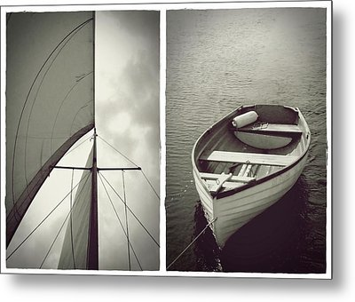 Sailing Diptych Metal Print by Patricia Strand