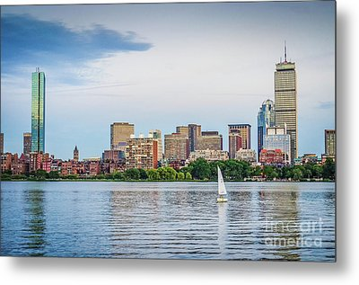 Sailing In Back Bay Metal Print by Mike Ste Marie