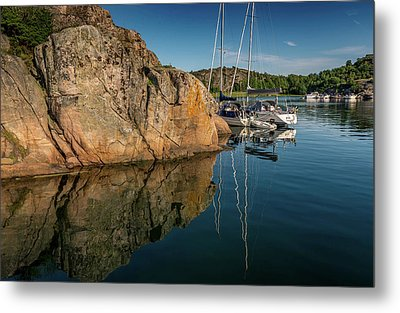 Sailing In Sweden Metal Print by Martina Thompson