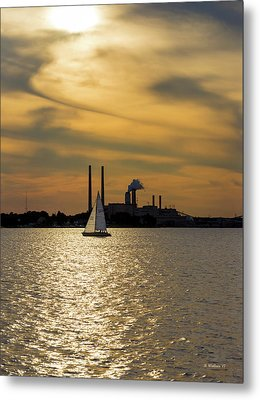 Sailing In The Golden Hour Metal Print