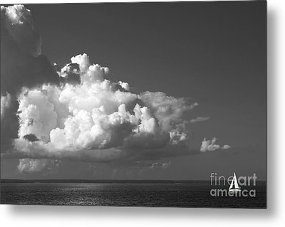 Sailing Into Storm Metal Print by Charline Xia