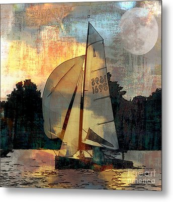 Sailing Into The Sunset Metal Print by LemonArt Photography