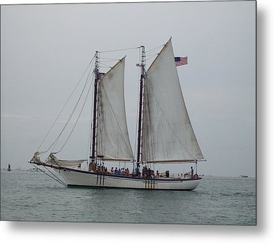 Metal Print featuring the photograph Sailing Key West  by Nancy Taylor
