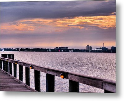 Metal Print featuring the photograph Sailing by Laura DAddona