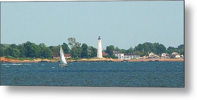 Sailing New Haven Metal Print by Margie Avellino