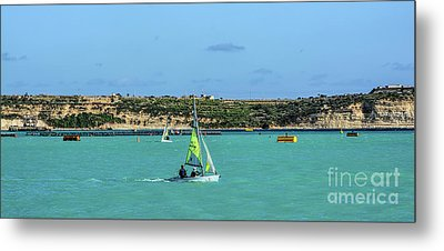 Sailing On A Sunny Day Metal Print by Stephan Grixti