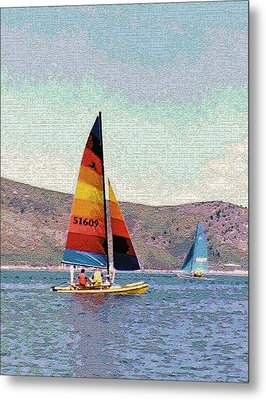 Sailing On A Utah Lake Metal Print by Steve Ohlsen