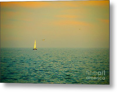 Sailing On The Great Lakes Metal Print by Mary Machare