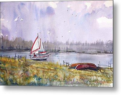 Sailing On White Sand Lake Metal Print by Ryan Radke